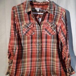 Super soft womens flannel shirt